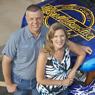 Mike and Jill Crist, owners of Mike's Automotive in Tyler, TX